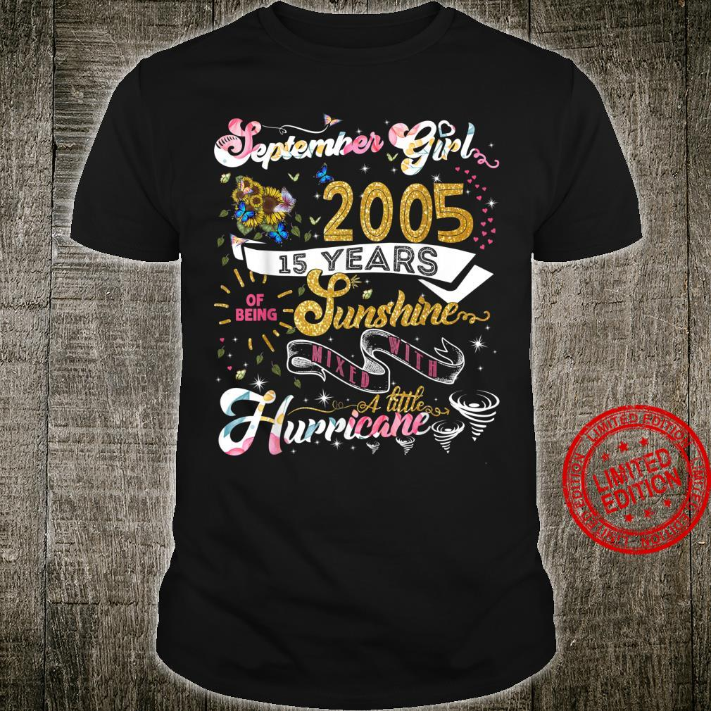 15. Geburtstag Geschenk September 2005 Jungen Mädchen Design Shirt