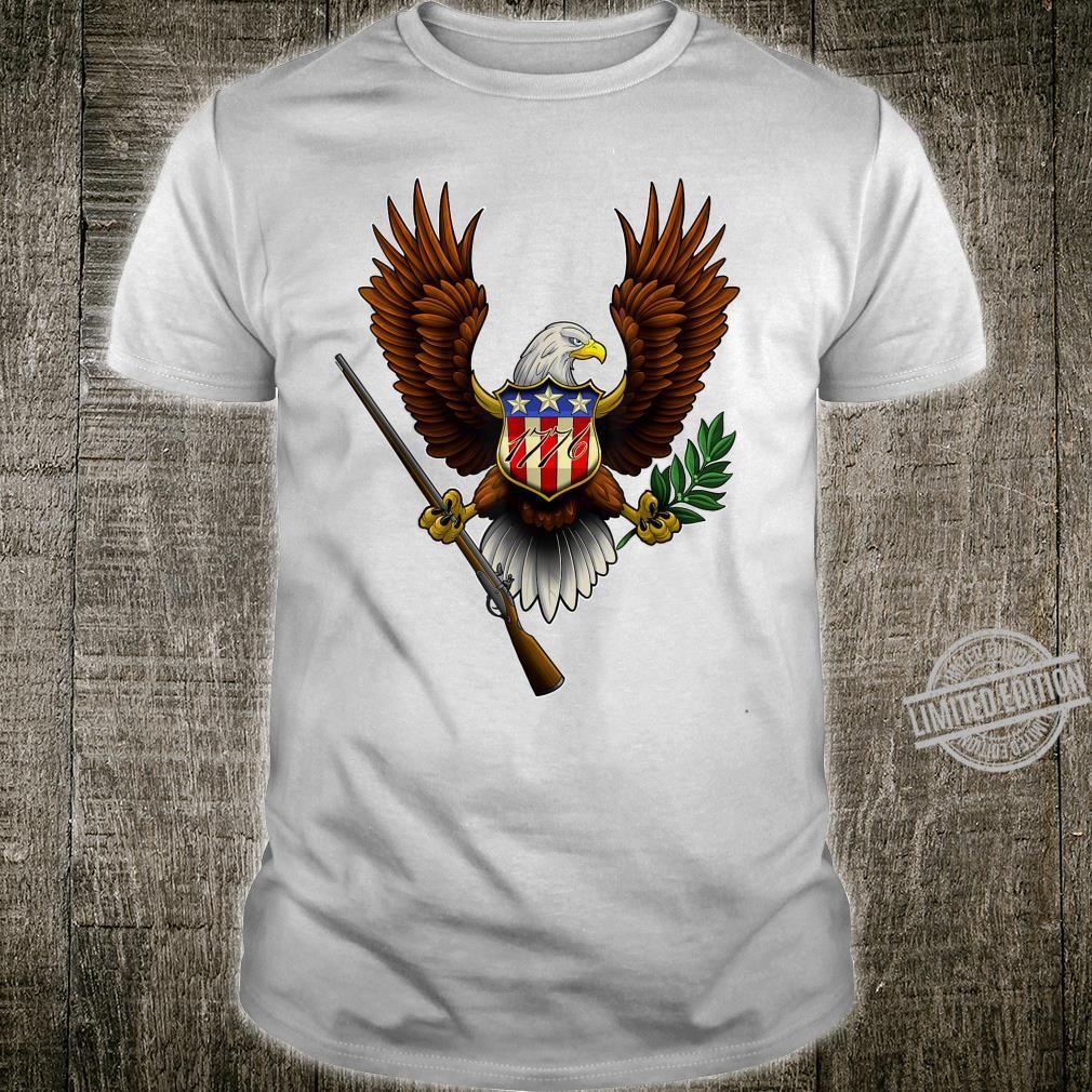 1776 Bald Eagle Pro 2nd Amendment Revolution USA Shirt