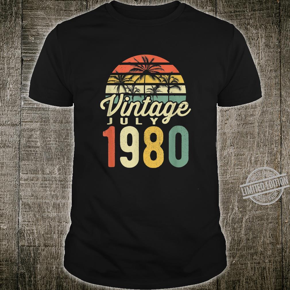 40 Mann Legendär Seit July 1980 40Ter 40. Geburtstag Shirt