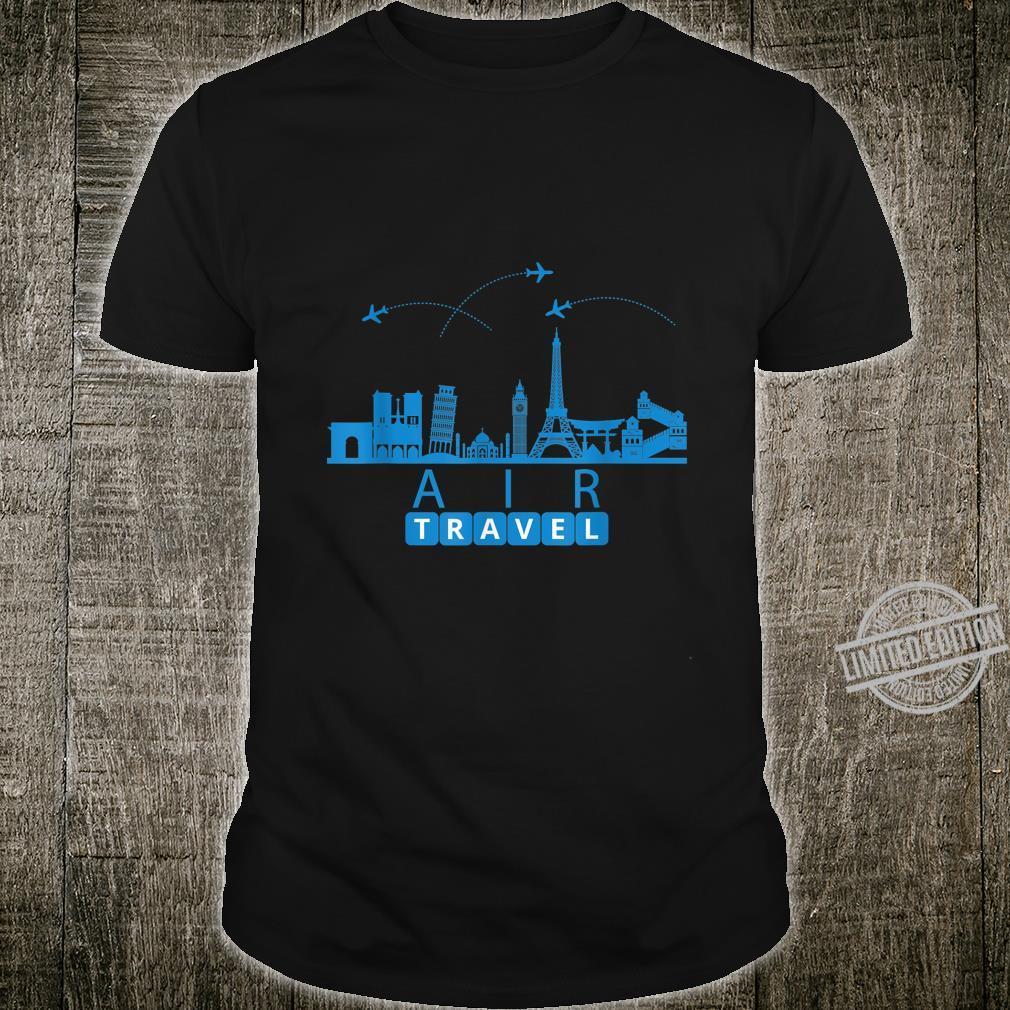 Air Travel City Scape Designer Travel Shirt