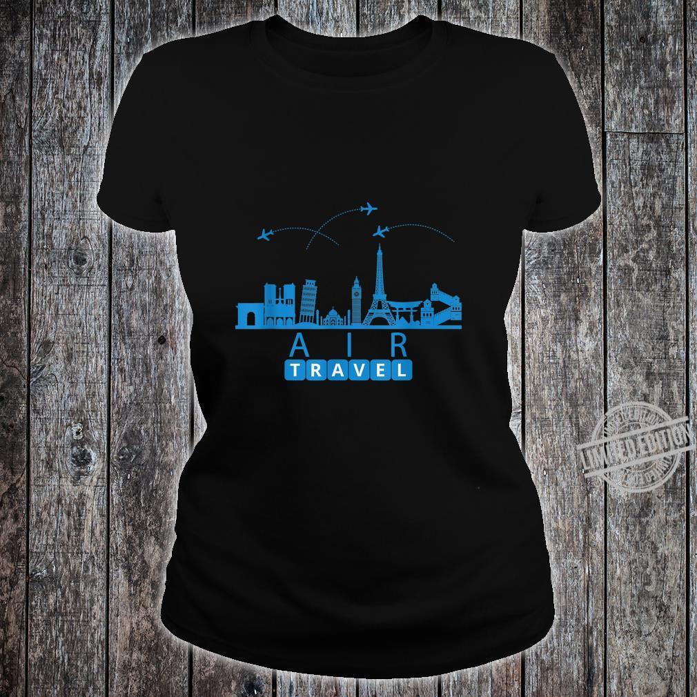 Air Travel City Scape Designer Travel Shirt ladies tee