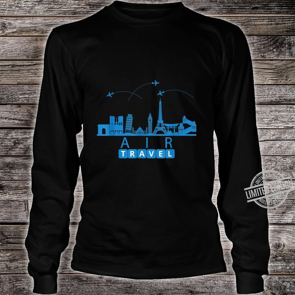 Air Travel City Scape Designer Travel Shirt long sleeved