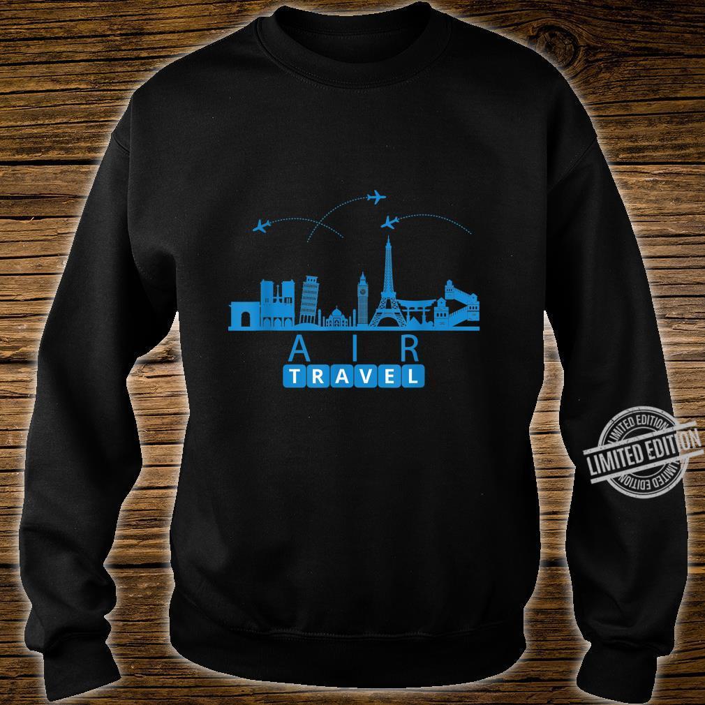 Air Travel City Scape Designer Travel Shirt sweater