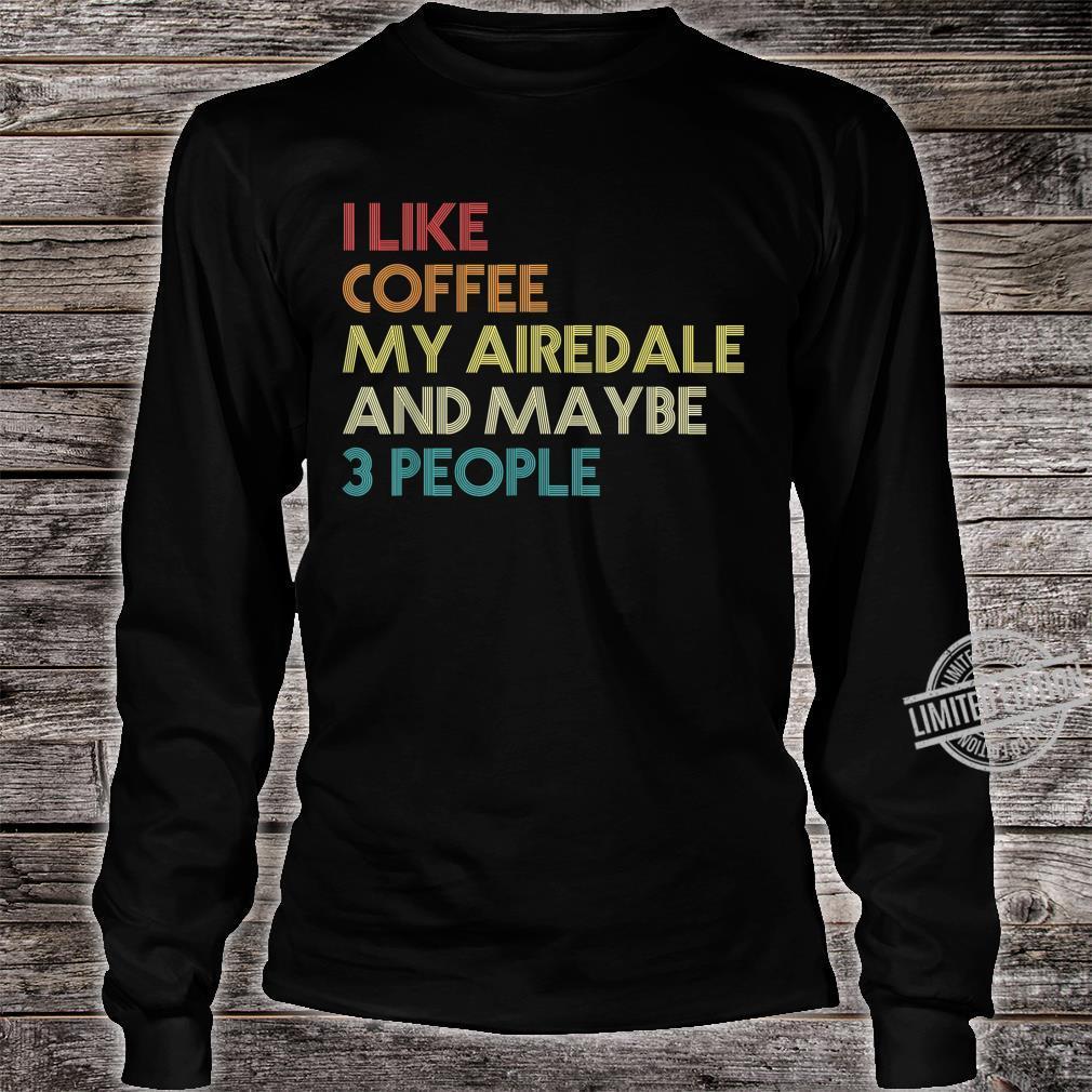Airedale Terrier Hund Hundeliebhaber Geschenk Vintage Retro Shirt long sleeved