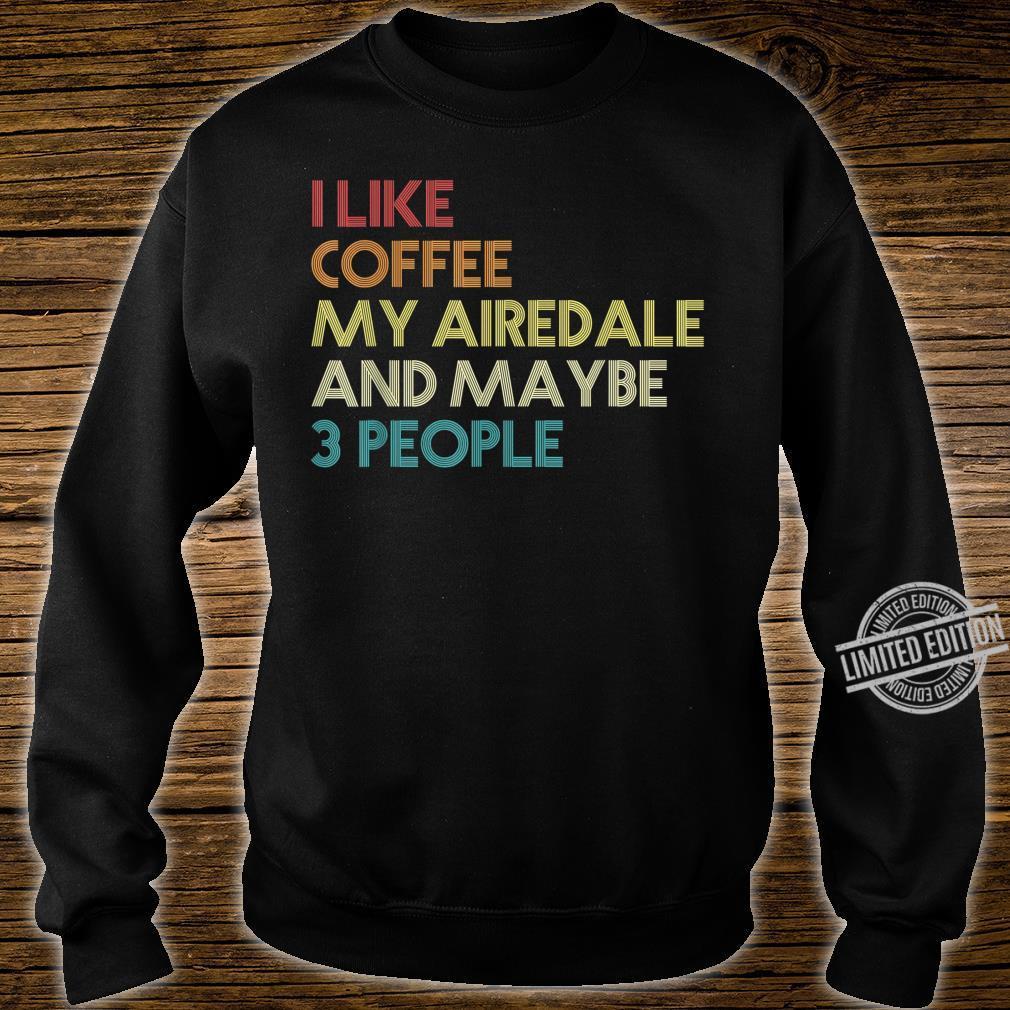 Airedale Terrier Hund Hundeliebhaber Geschenk Vintage Retro Shirt sweater