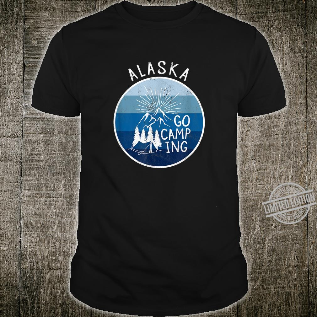 Alaska USA Retro Vintage Camping Nature Mountains Shirt