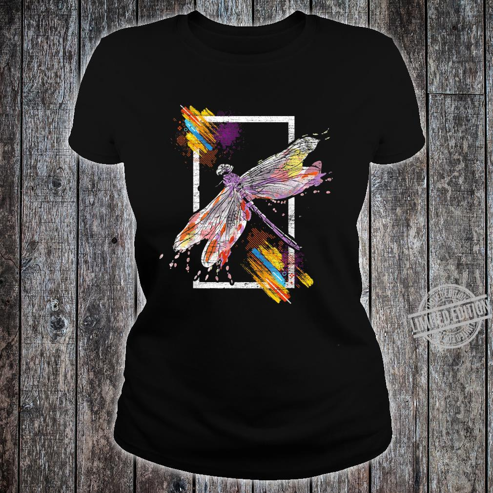Animal Retro Dragonfly Shirt ladies tee