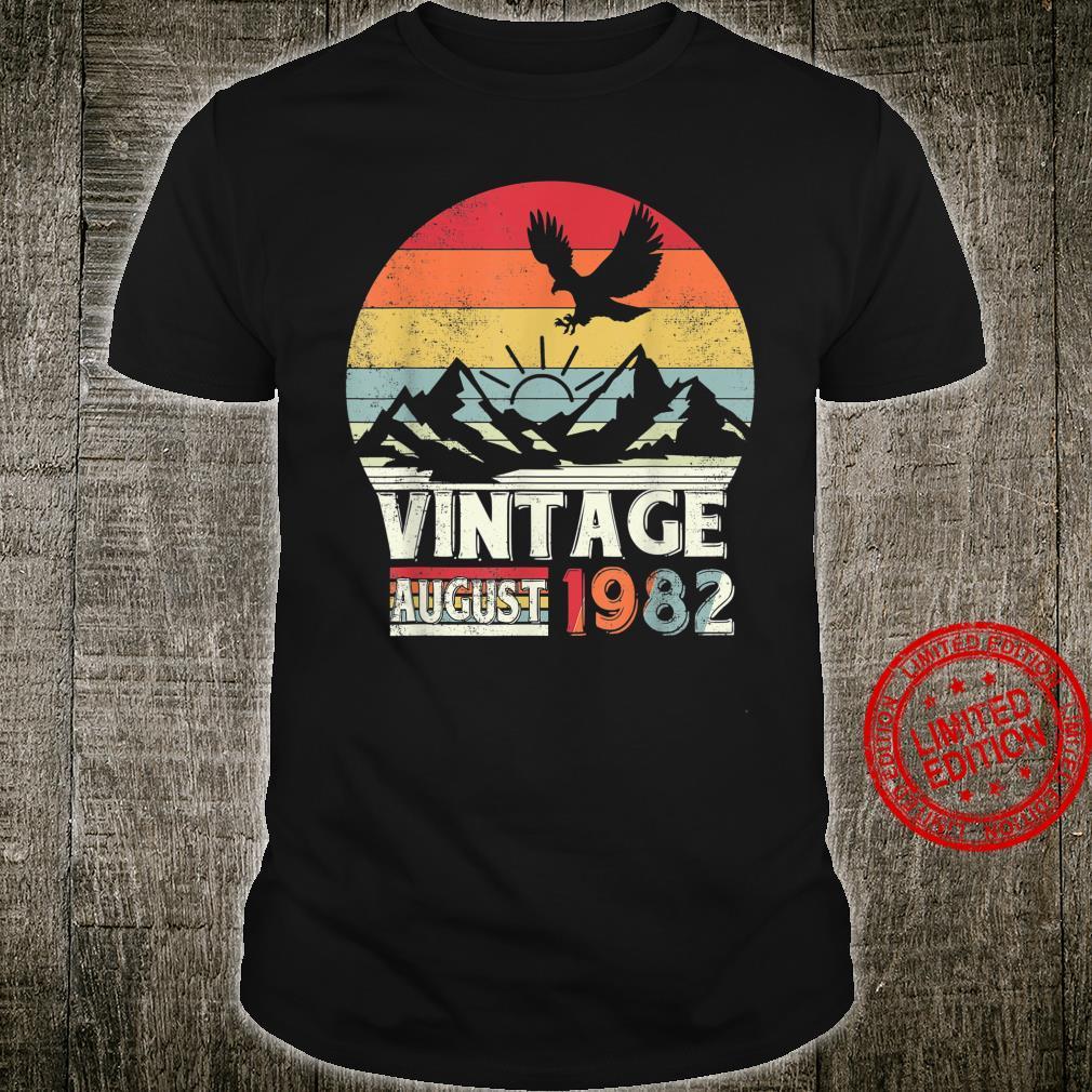 August 1982 Shirt 38 Years Old 38th Birthday Shirt