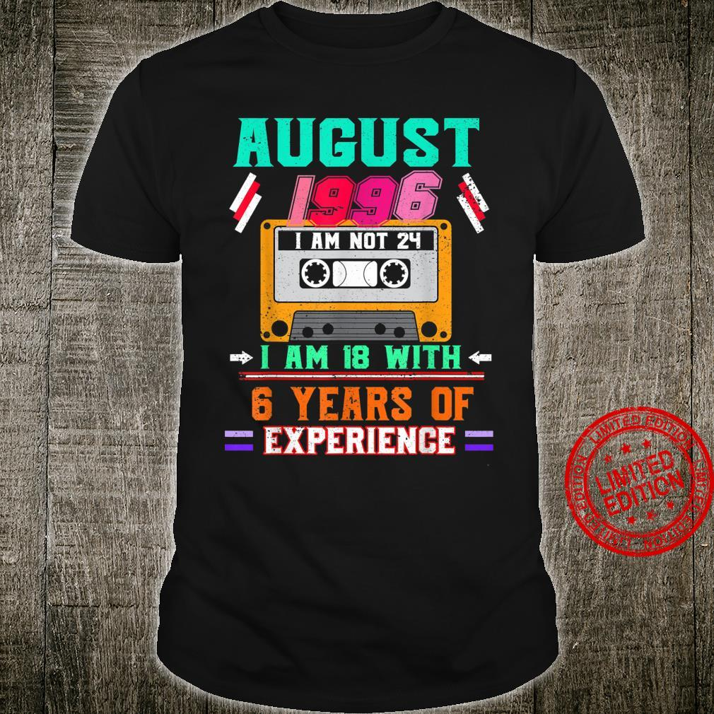 August 1996 Vintage 24th Birthday 24 years old Shirt