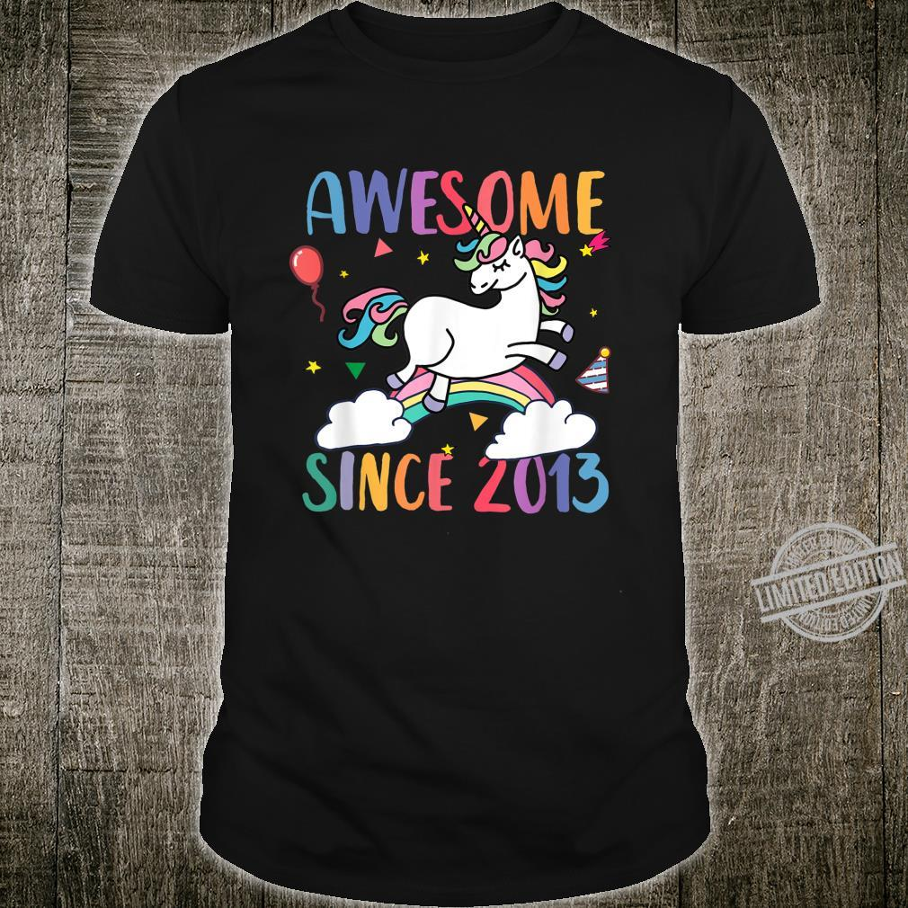 Awesome 7 Years Old 7th Unicorn Birthday Party 2020 Shirt