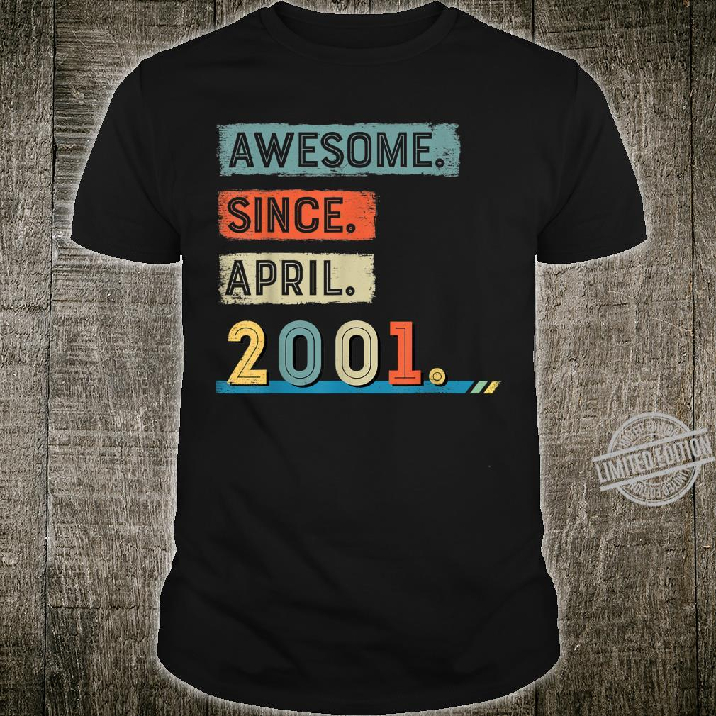 Awesome Since April 2001 19th Birthday Shirt Boy Shirt
