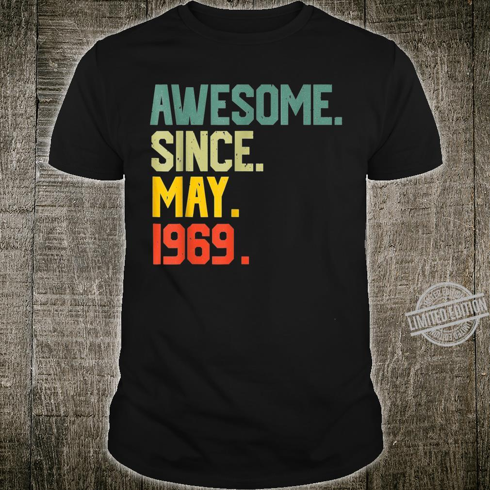 Awesome since May 1969 Vintage 51st Birthday Shirt
