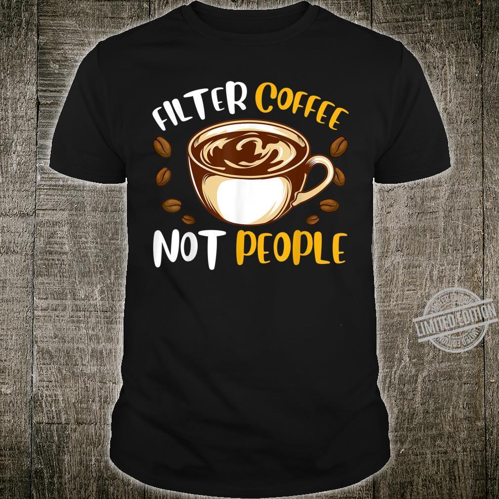 Baristas Filter Coffee Shop Employee Shirt