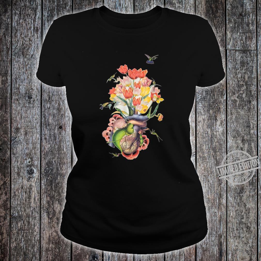 Beautiful Life Enjoy Heart Flower and Birds Shirt ladies tee