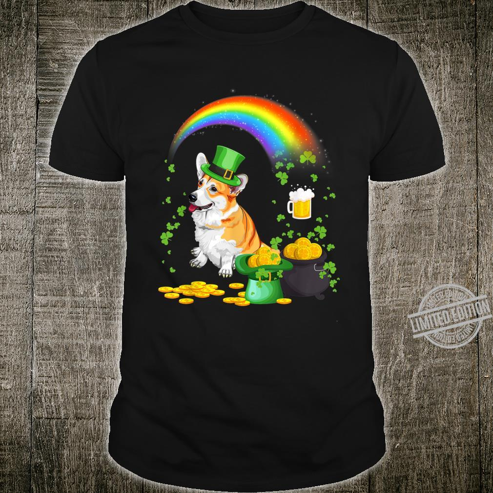 Beer Drinking Welsh Corgi Dog St Patricks Day Shirt