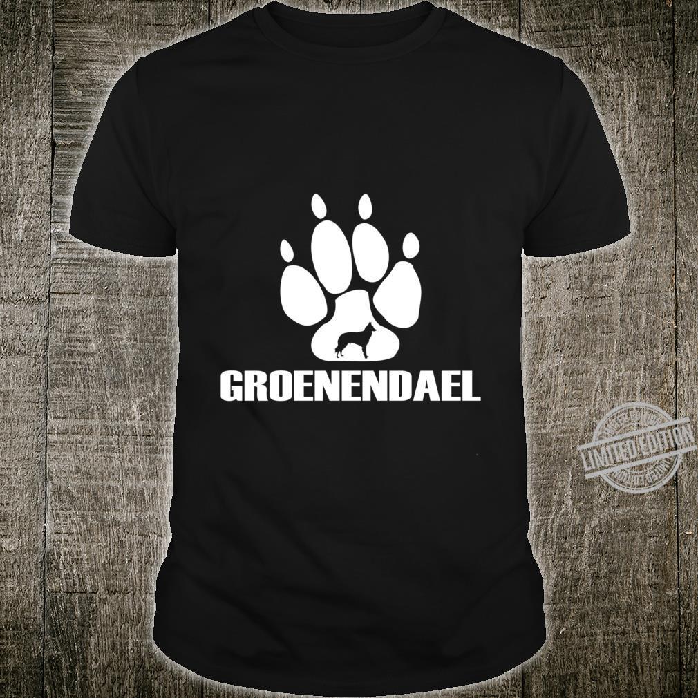 Belgian Groenendael sheepdog dog paw Print design Racerback Shirt