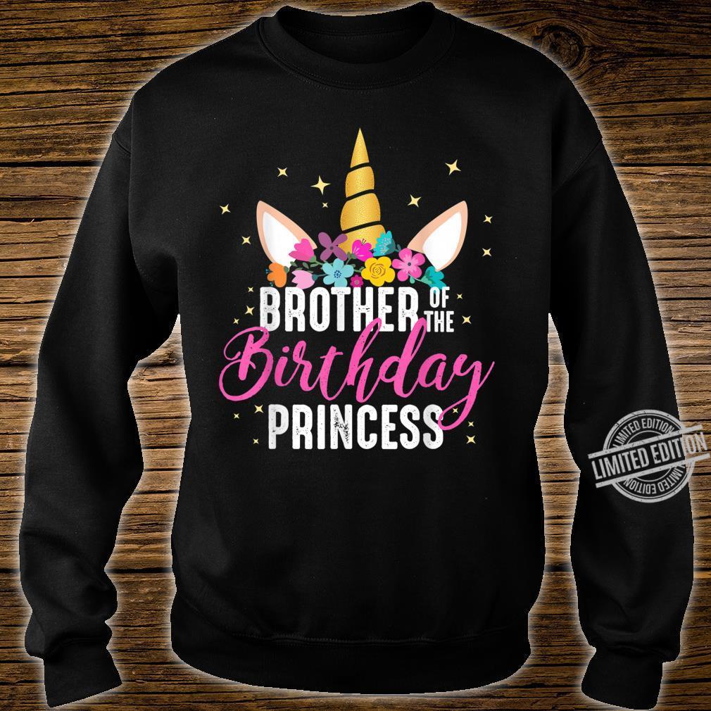 Brother Of The Birthday Princess Unicorn Birthday Shirt sweater