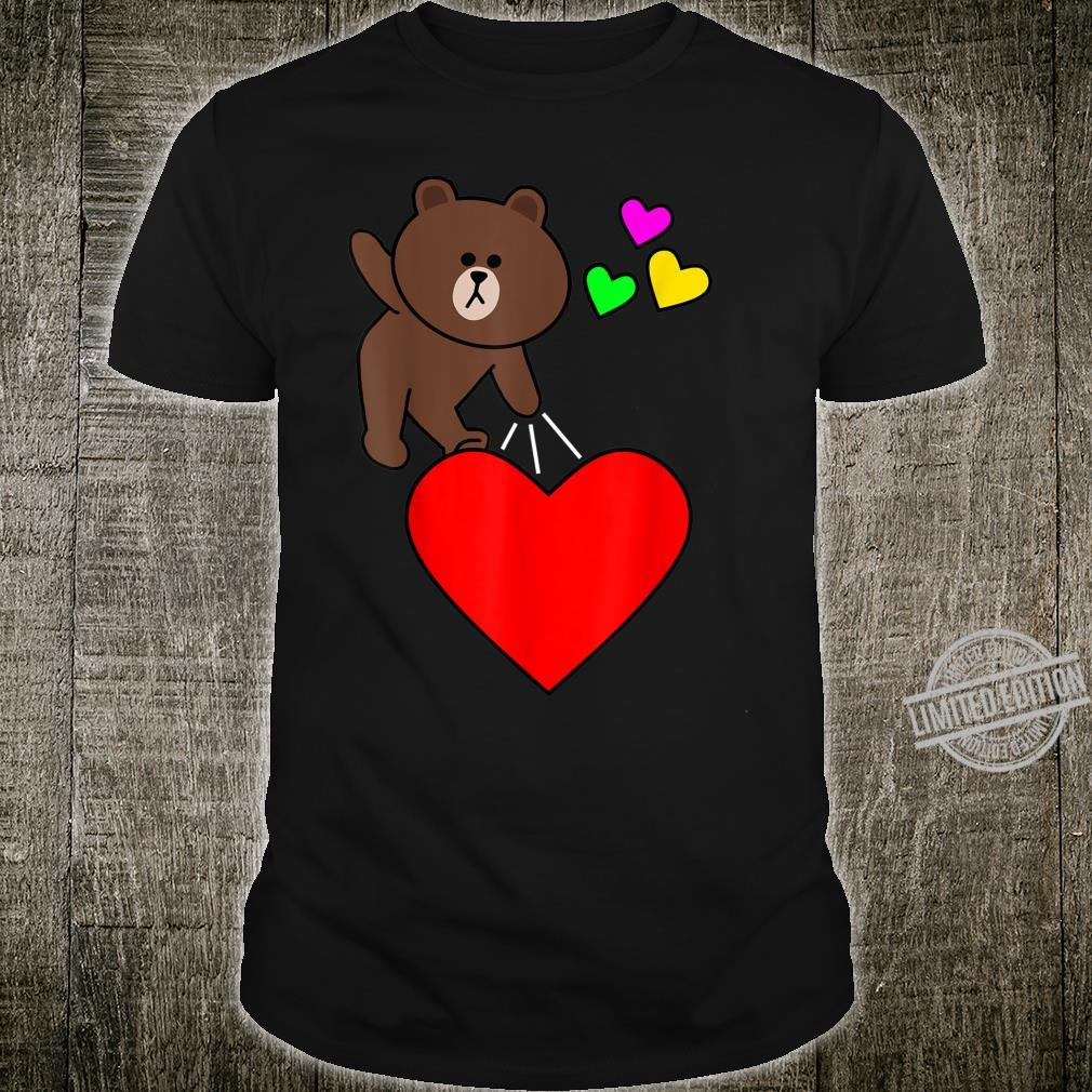 Brown bear cony bunny rabbit valentines send my love to you Shirt