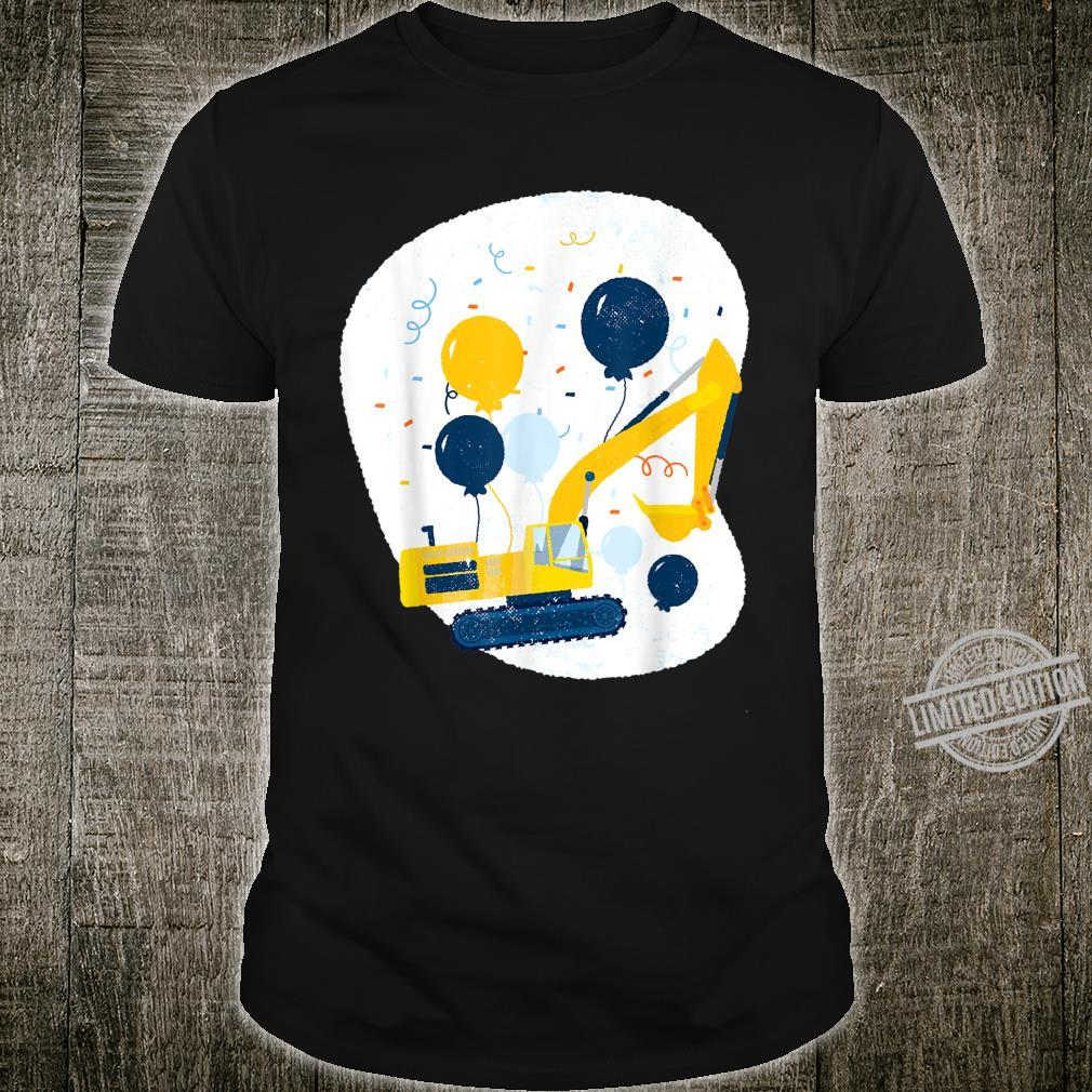 Bulldozer with birthday balloons for girls and boys Shirt