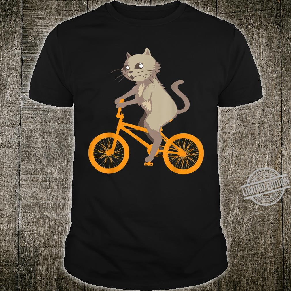 Cat On Bike Cool Biking Kitty Animals Riding Shirt