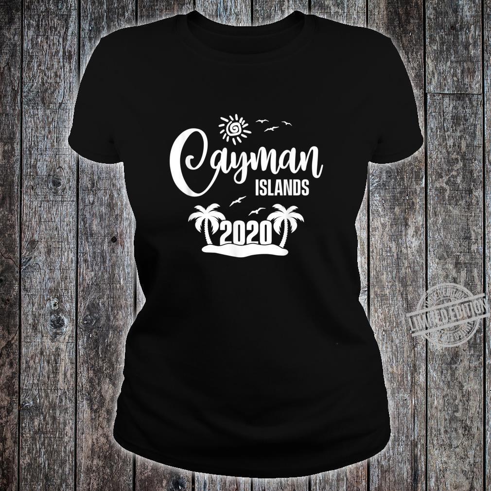 Cayman Islands 2020 Summer Vacay Beach Trip Vacation Shirt ladies tee