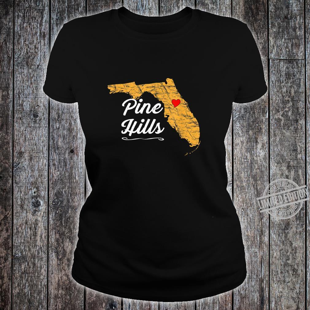 City of PINE HILLS FLORIDA Vacation Souvenir Shirt ladies tee
