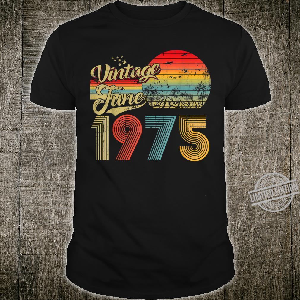 Classic 45th birthday Vintage June 1975 Shirt
