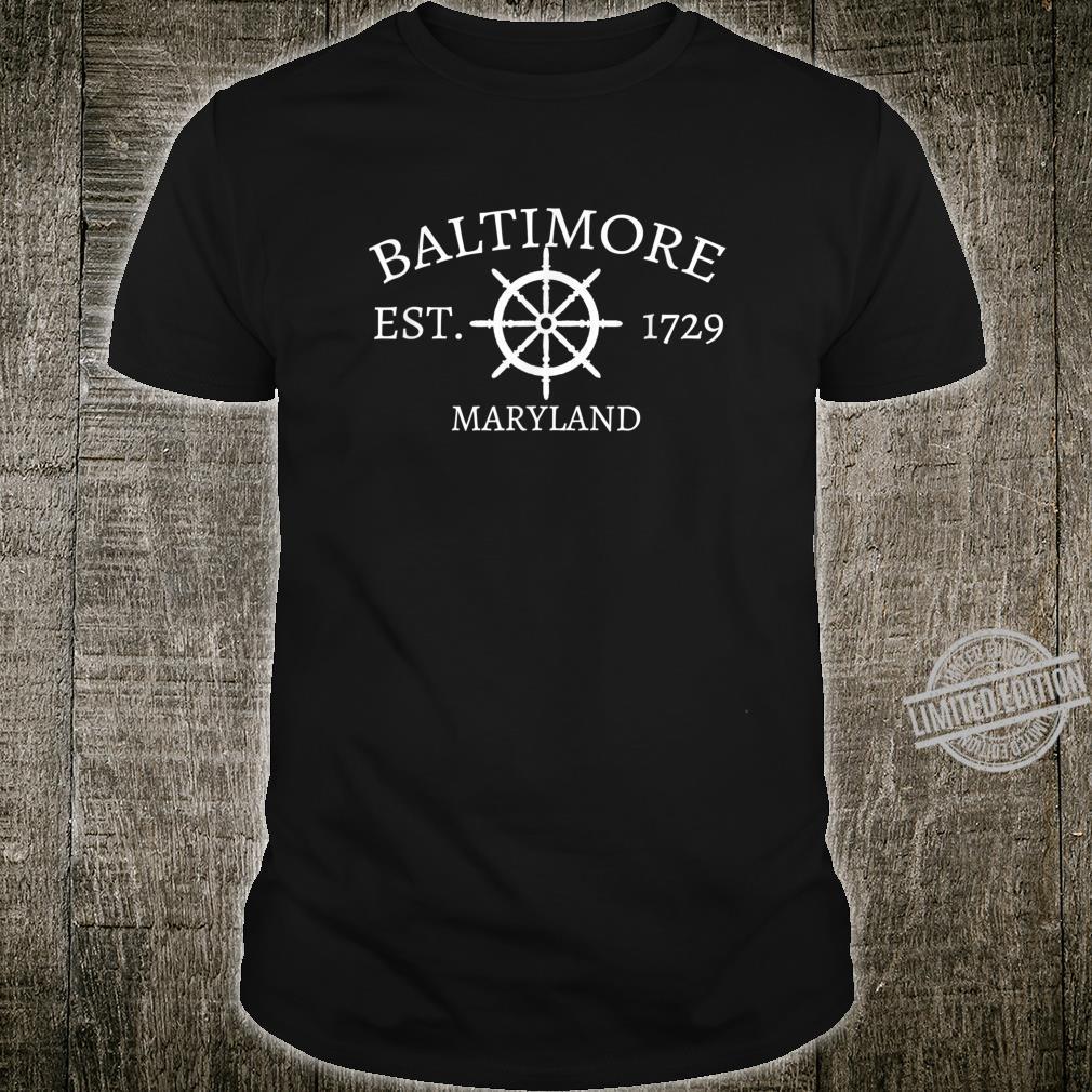 Classic Baltimore, Maryland with Captain's Wheel Shirt