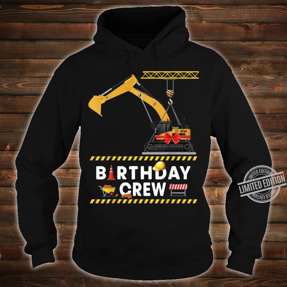 Construction Birthday Crew Boy Excavator Crane Shirt hoodie