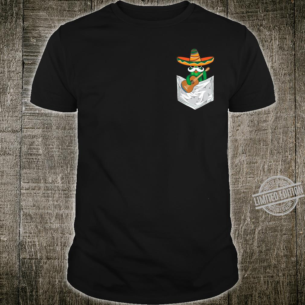 Cool Mexico Cinco De Mayo Cactus Pocket Shirt
