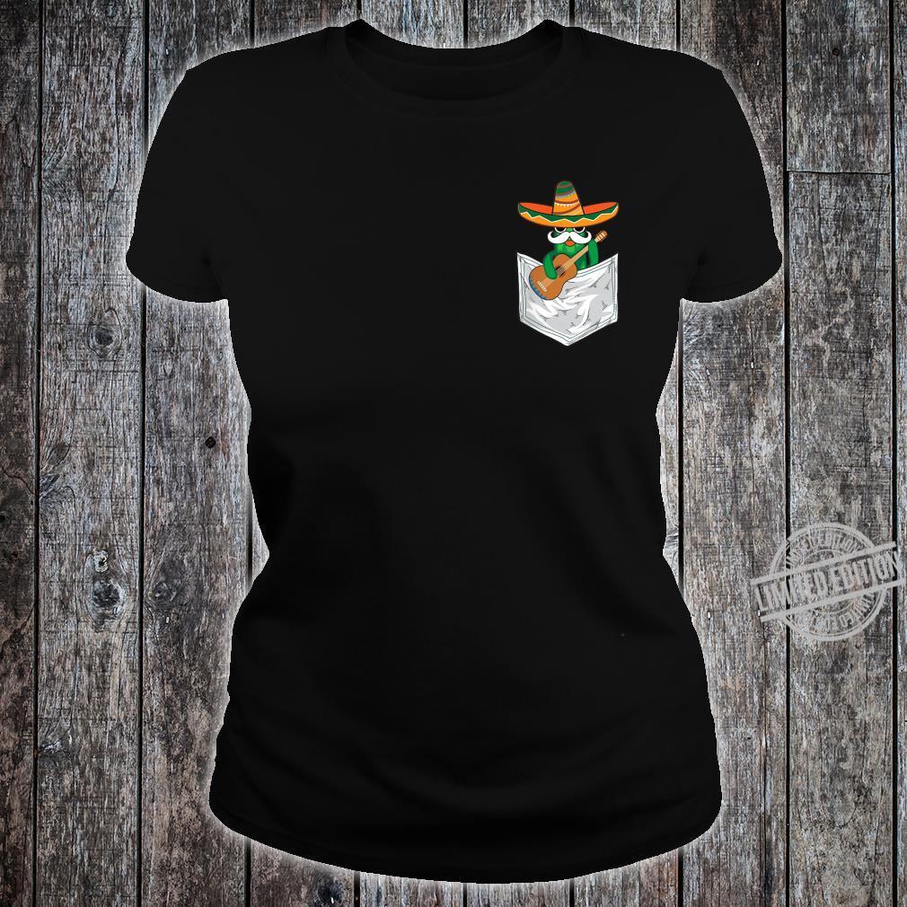 Cool Mexico Cinco De Mayo Cactus Pocket Shirt ladies tee