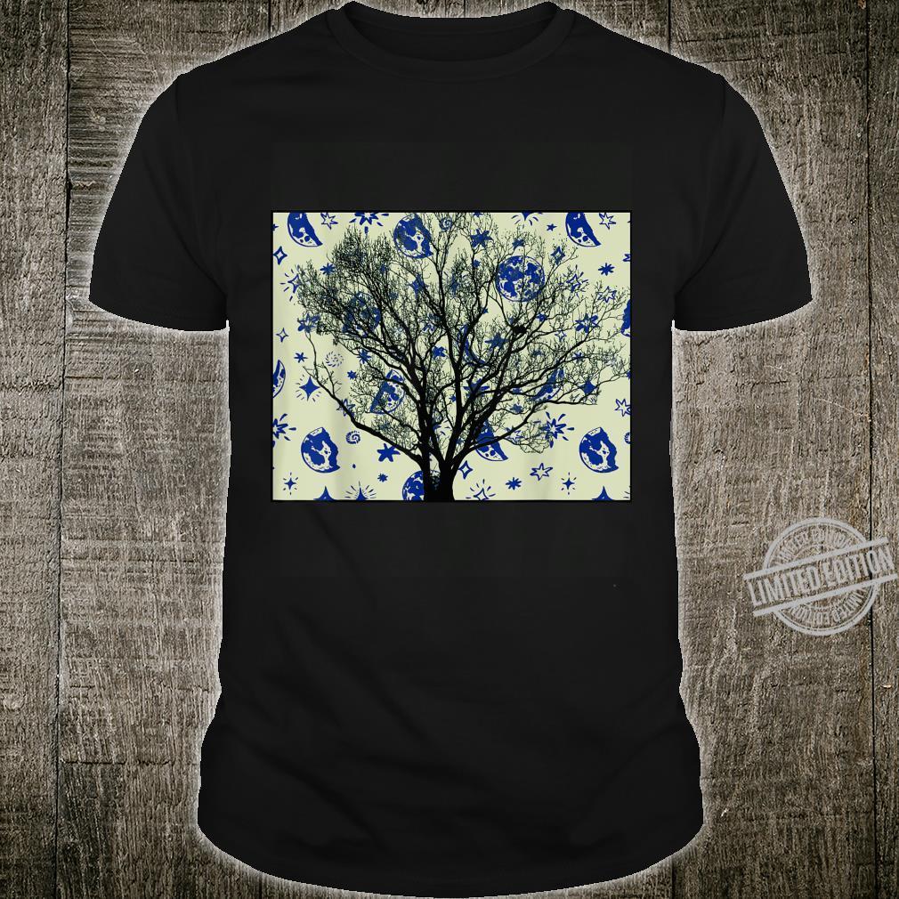 Cool Unique Space Tree Design Shirt