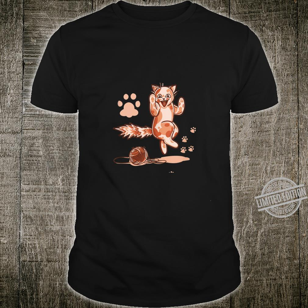 Cute Kitten Playing With A Ball Of Yarn Wool by Finja Design Shirt