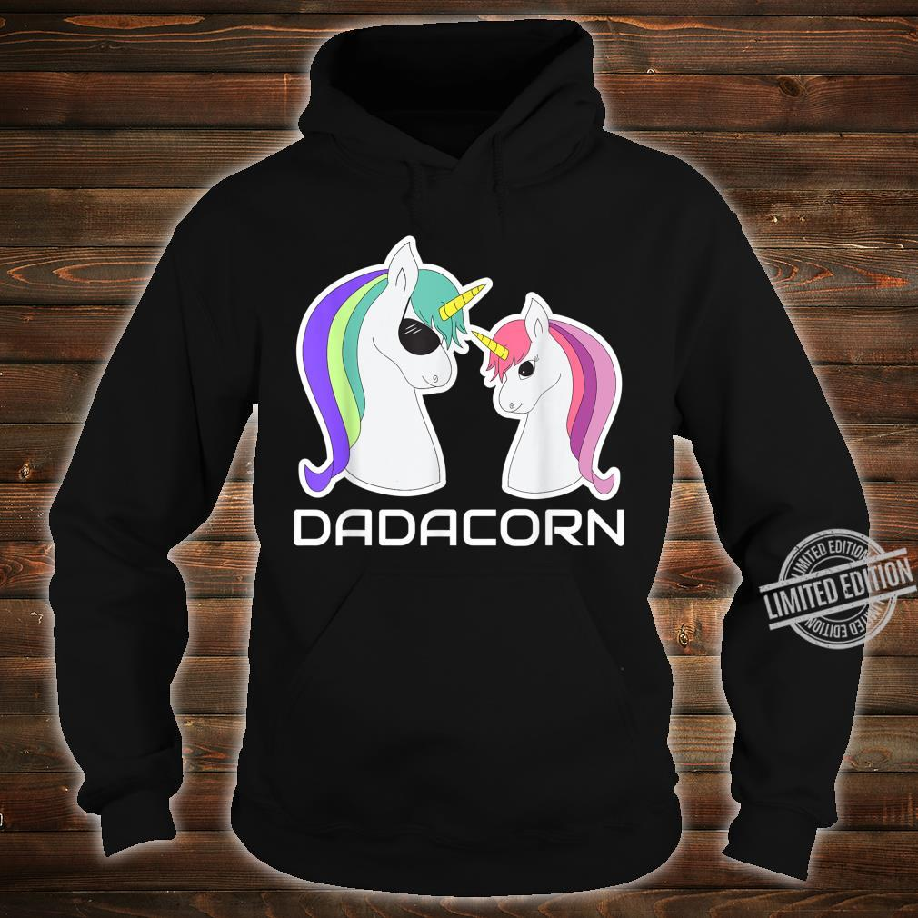 DADACORN Papa Daughter Unicorns Shirt hoodie