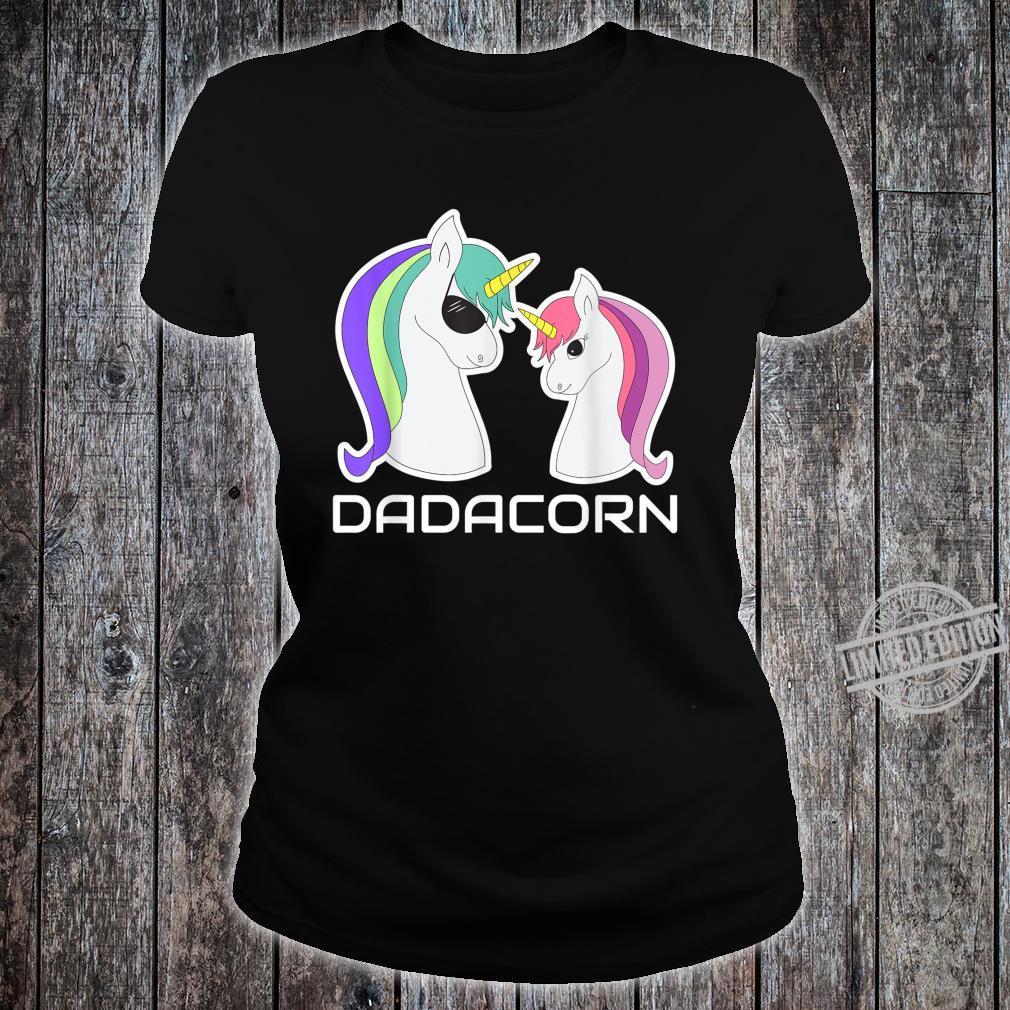 DADACORN Papa Daughter Unicorns Shirt ladies tee