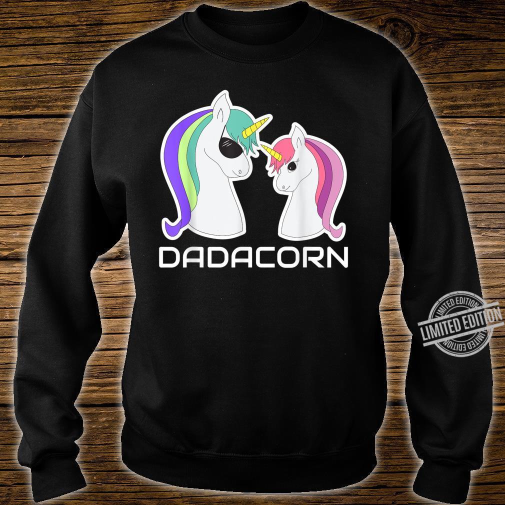 DADACORN Papa Daughter Unicorns Shirt sweater