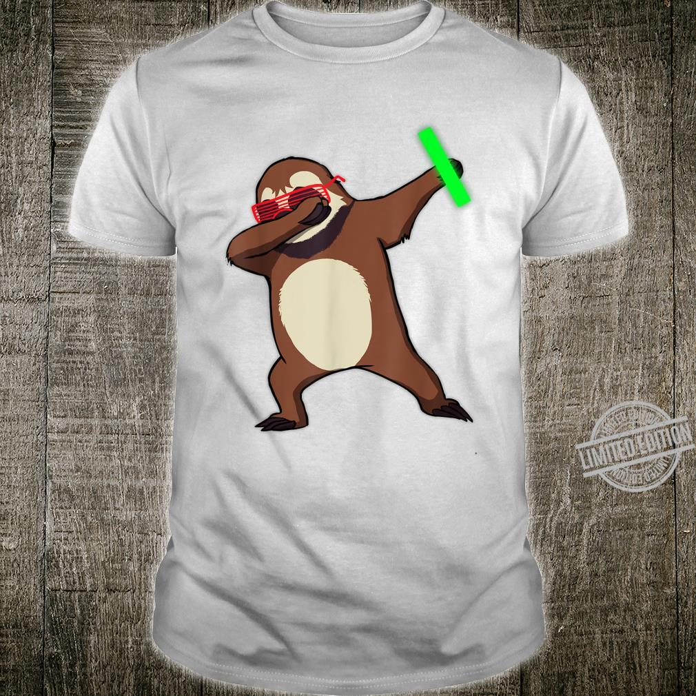 Dabbing Sloth Rave Dance Party Music Shirt