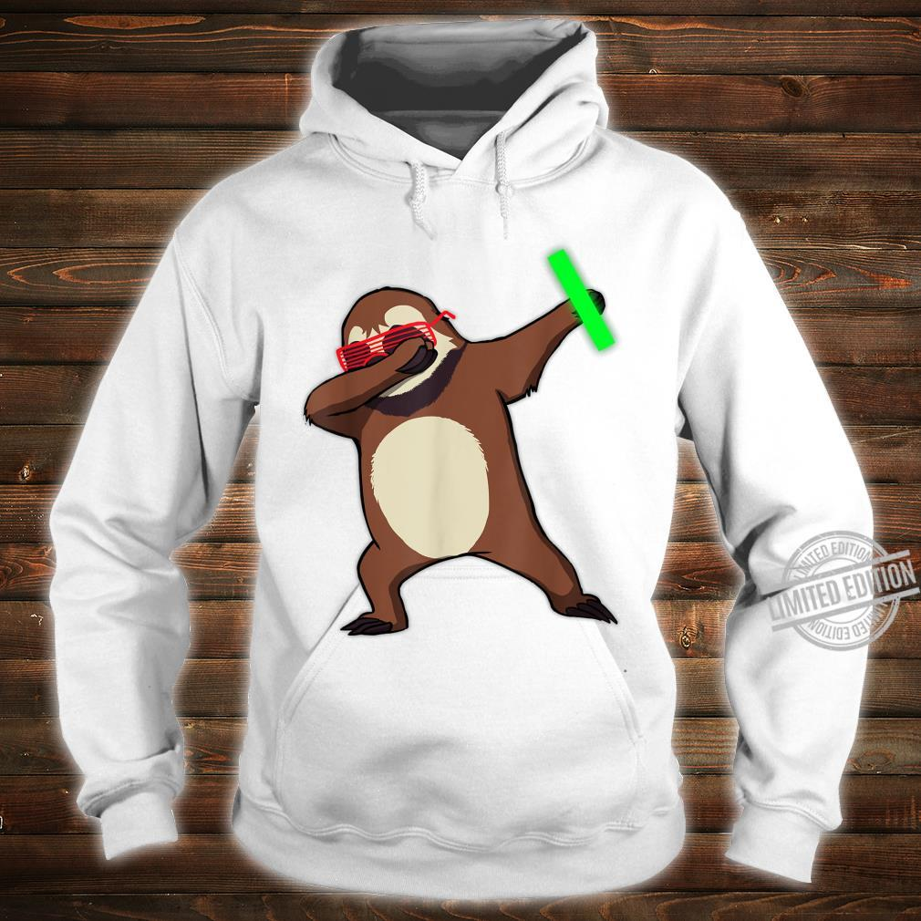 Dabbing Sloth Rave Dance Party Music Shirt hoodie