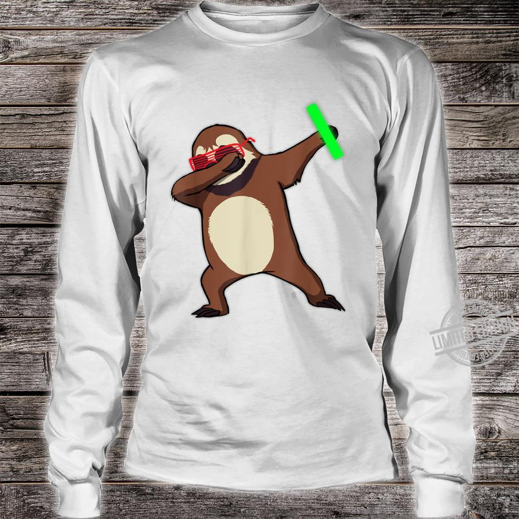 Dabbing Sloth Rave Dance Party Music Shirt long sleeved