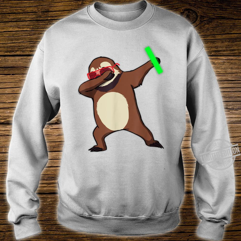 Dabbing Sloth Rave Dance Party Music Shirt sweater