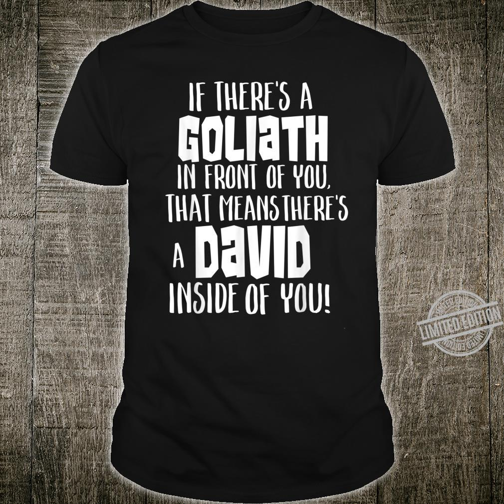 David And Goliath Shirt You Can Overcome With Christ In You Shirt