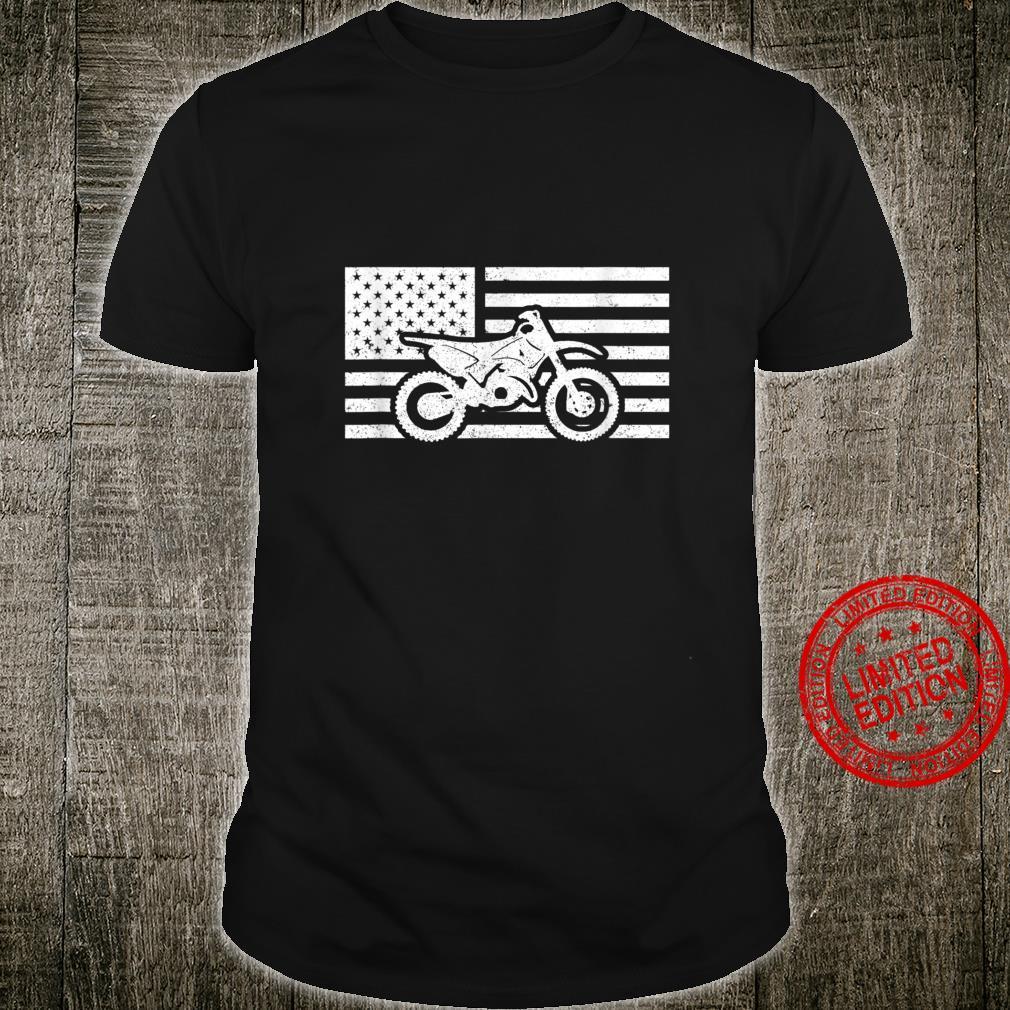 Dirt Bike American Flag Motocross Shirt