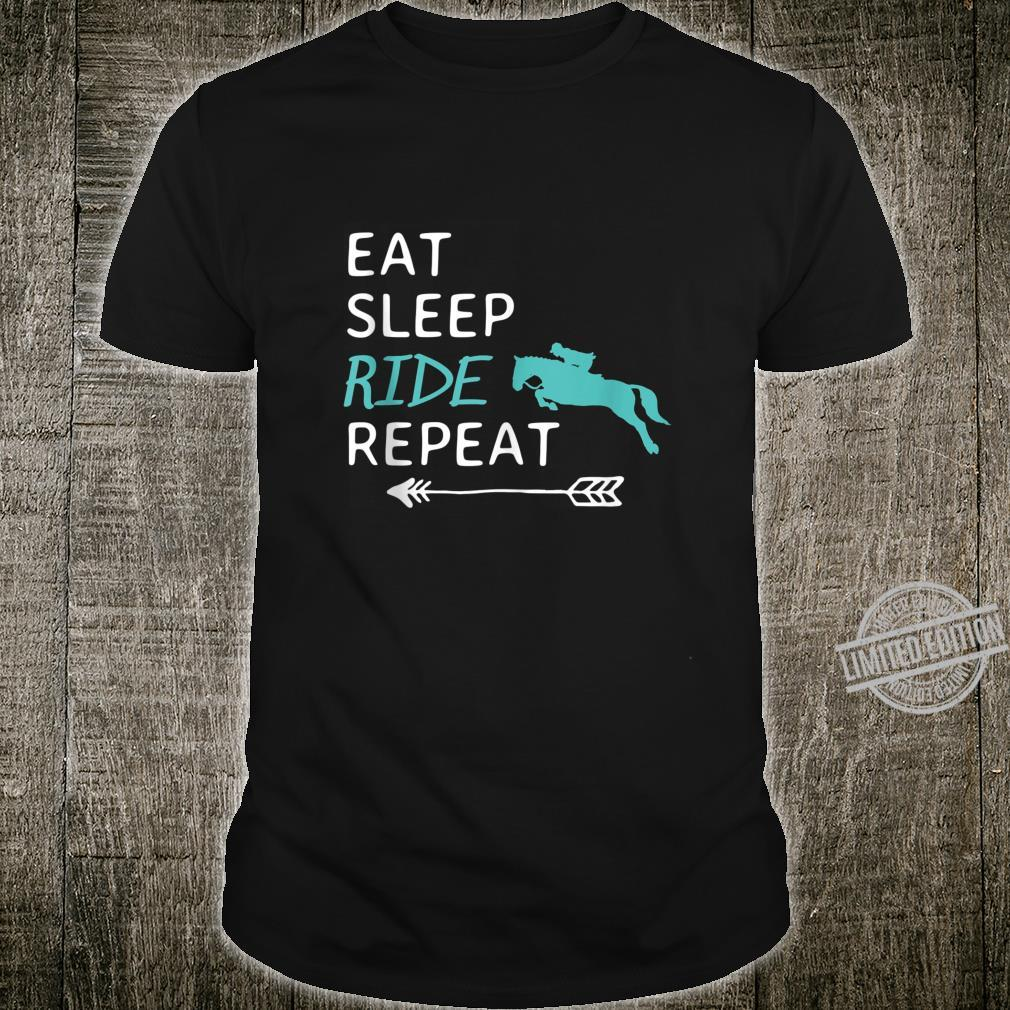 Eat Sleep Ride Horses Repeat Horseback Riding Shirt