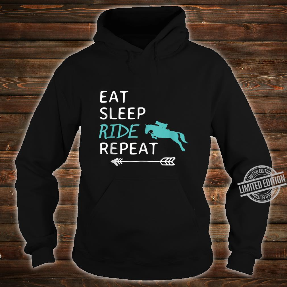 Eat Sleep Ride Horses Repeat Horseback Riding Shirt hoodie