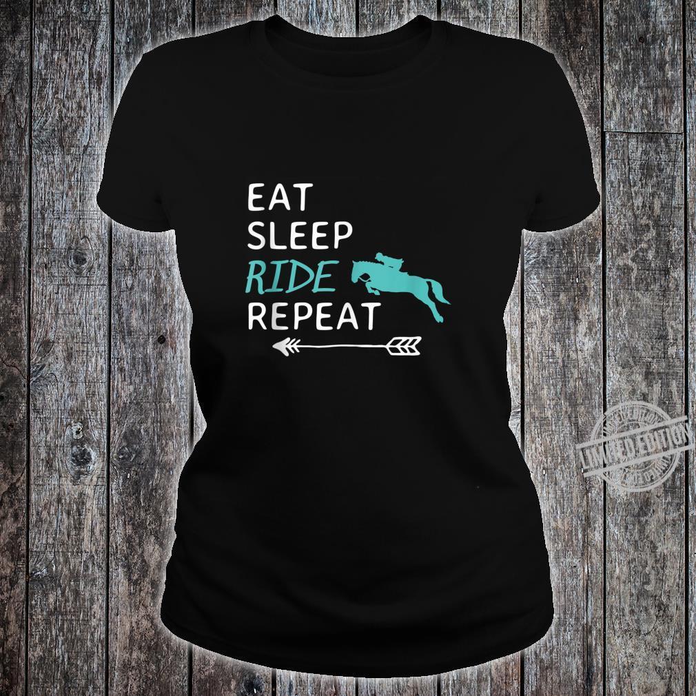 Eat Sleep Ride Horses Repeat Horseback Riding Shirt ladies tee