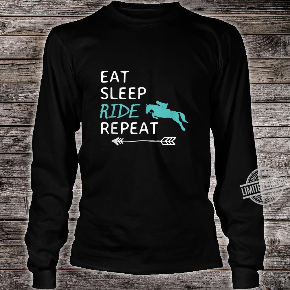 Eat Sleep Ride Horses Repeat Horseback Riding Shirt long sleeved