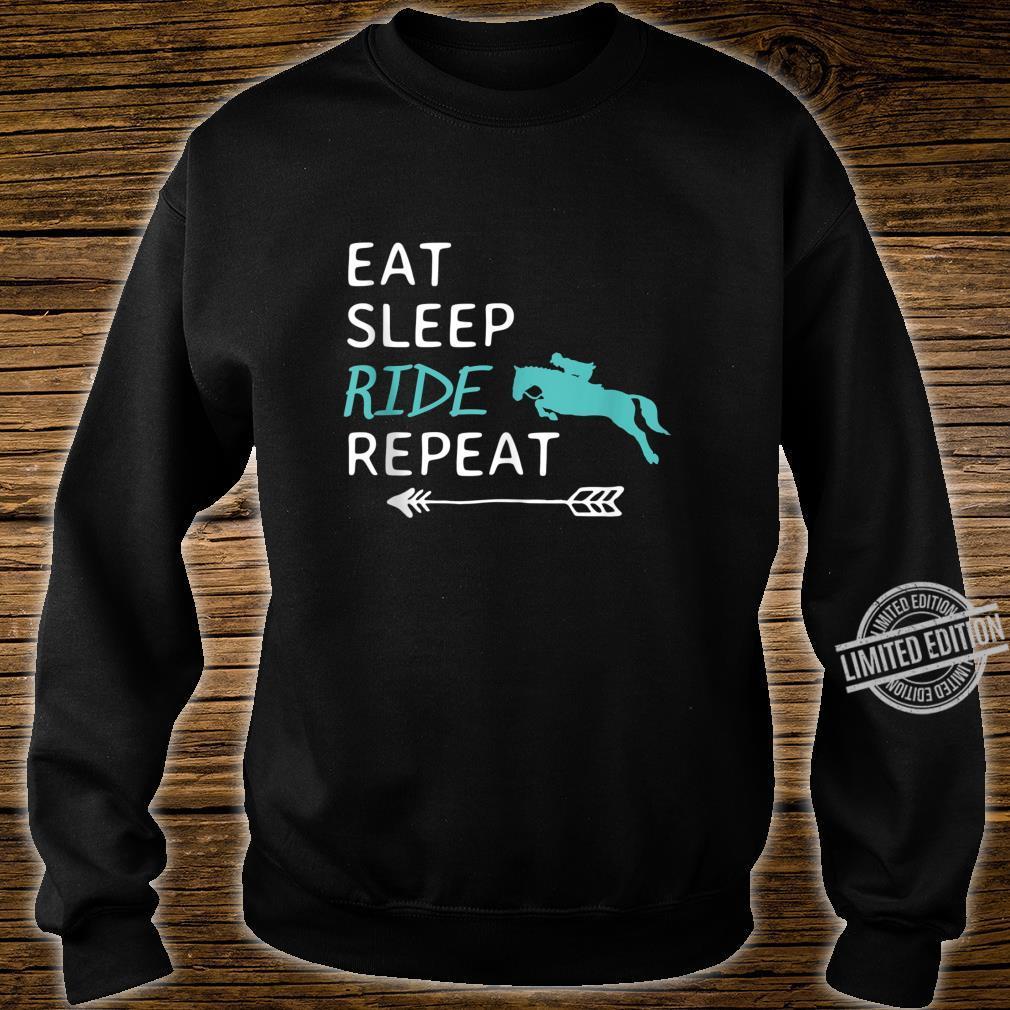 Eat Sleep Ride Horses Repeat Horseback Riding Shirt sweater