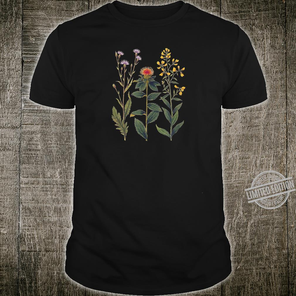 Elegant botanical illustration of wild flowers Shirt