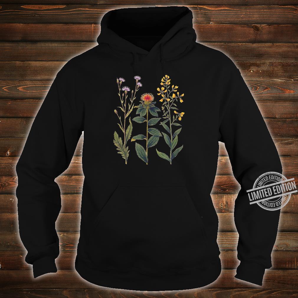 Elegant botanical illustration of wild flowers Shirt hoodie