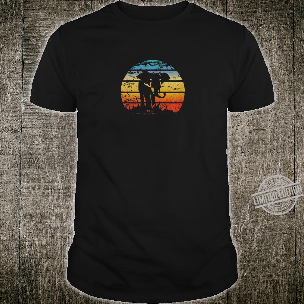 Elephant Africa Nature Retro Vintage Animal Love Animal Protection Shirt